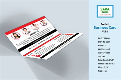 foldable business card template corporate folded business card vol 2 business card