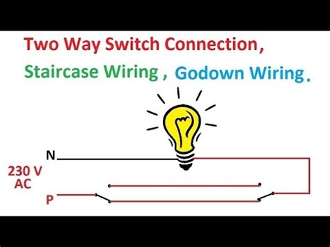 switch connection wiring diagram staircase godown