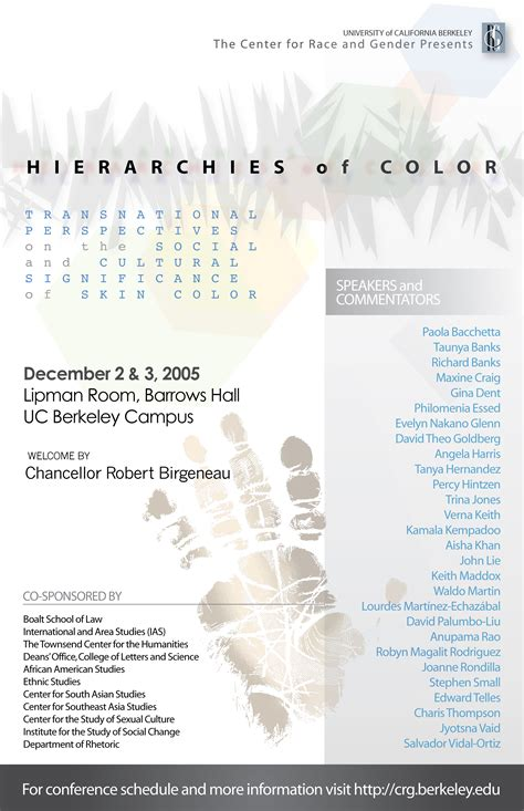of color conference hierarchies of color conference ucb center for race gender