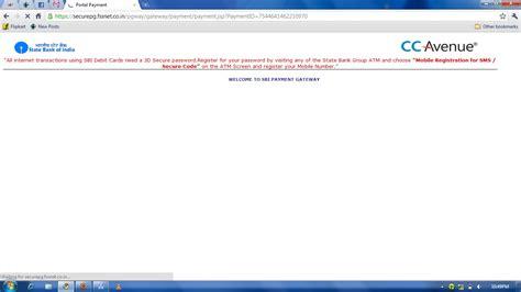 bank of india debit card secure code sbi debit card 3d secure code registration techenclave