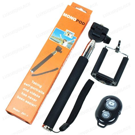 Ro5 Tongsis Remote Selfie Tripod Monopod Controller For Iphone new extendable handheld selfie monopod holder with bluetooth remote for all cell phone