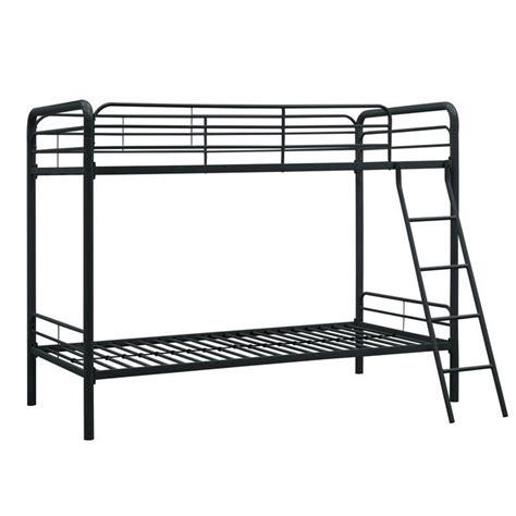metal bunk bed metal bunk bed in black 3135196