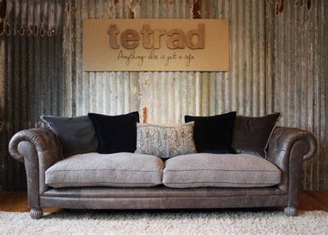 leather fabric sofas mix tetrad mixed leather and fabric sofas chairs