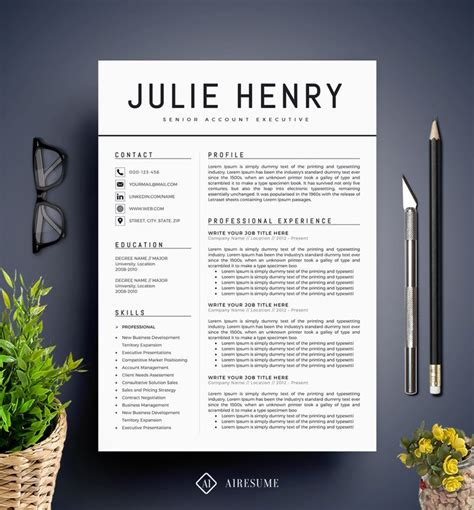 Resume Template Modern by Modern Resume Template Cv Template Cover Letter