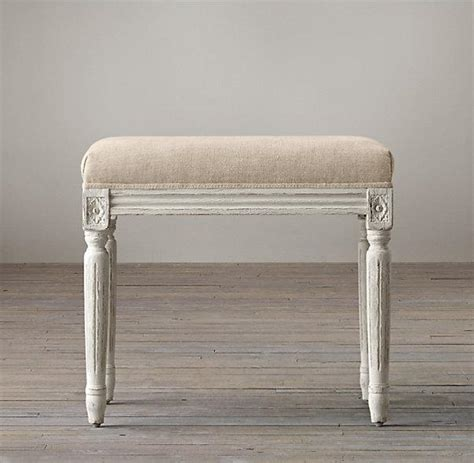 small ottomans with legs four rosette topped fluted legs cube small fabric