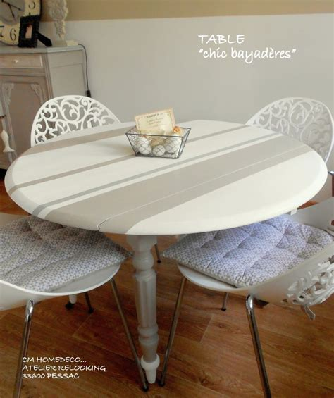 Relooker Une Table Ronde by 17 Meilleures Id 233 Es 224 Propos De Salle 192 Manger Shabby Chic