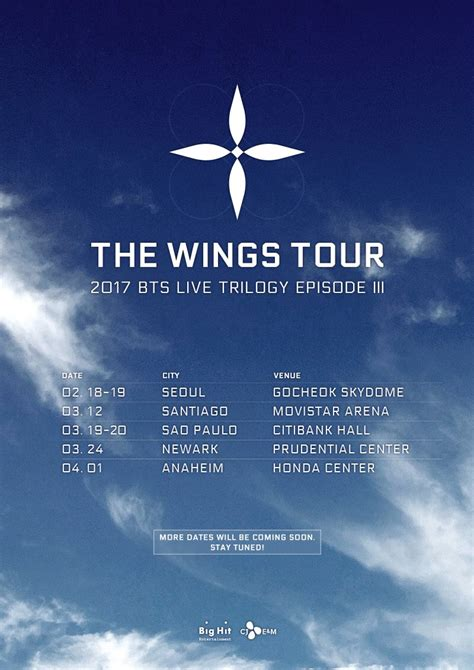 bts wings tour bts announces the cities they ll hit on their world tour
