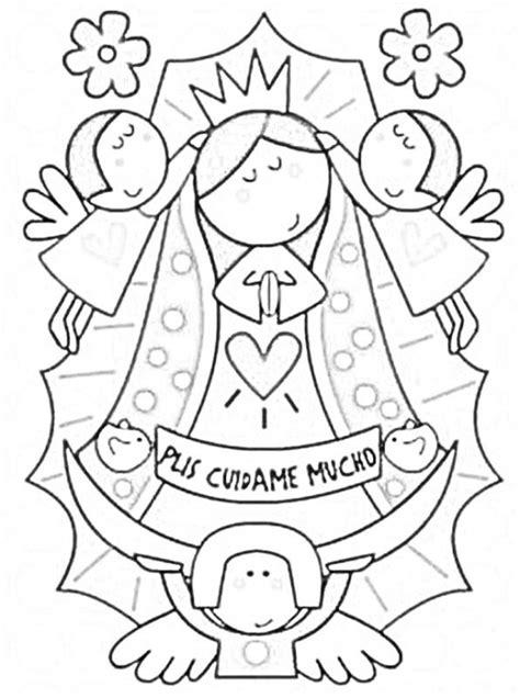 imagenes virgen maria infantil dibujos infantiles de la v 237 rgen de guadalupe para colorear