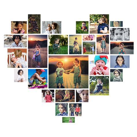 Picture Editing Heart Shaped Photoshop Collage Template Free Collage After Effects Template Free