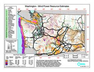oregon wind map wind power energy development technical assistance