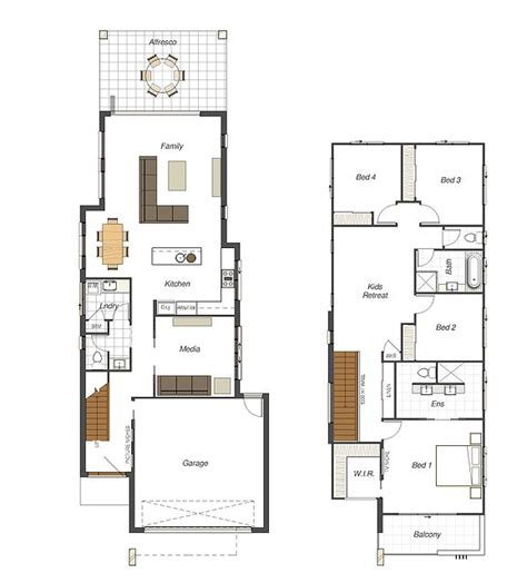 floor plans for narrow blocks 7 best modern minimalist narrow home plans images on