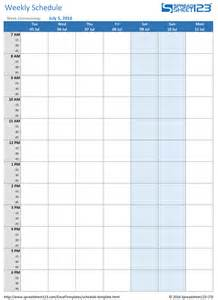 Schedule Template Docs by Weekly Schedule Template Docs Calendar Template 2016