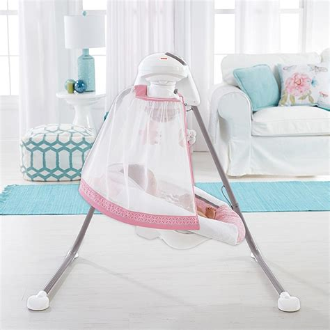 swing mobile fisher price starlight 6 speed singing cradle n swing