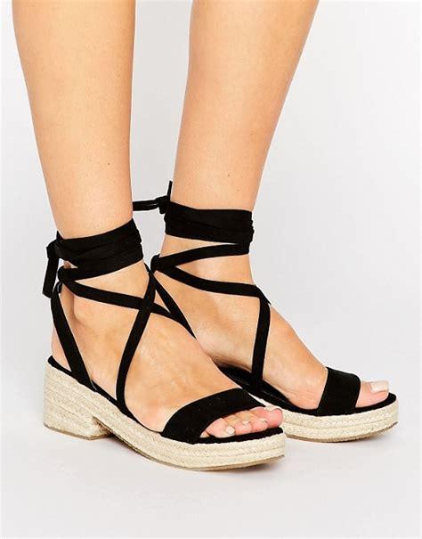 sandals that tie around your leg asos asos trust me tie leg sandals