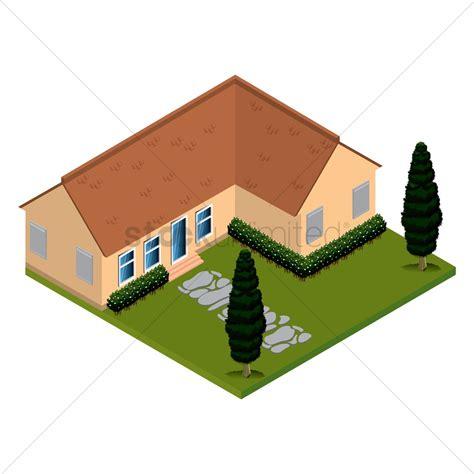isometric house design isometric house vector image 1562245 stockunlimited