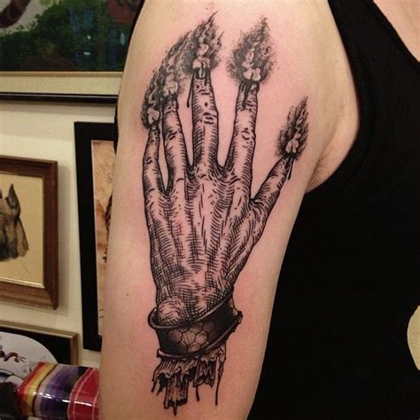 hand of glory tattoo 526 best occult tattoos images on occult