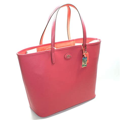 Tote Bag Big coach loganberry coral leather large tote bag 32701 coach 32701