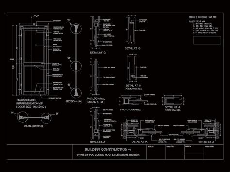 pvc door detail dwg detail  autocad designs cad