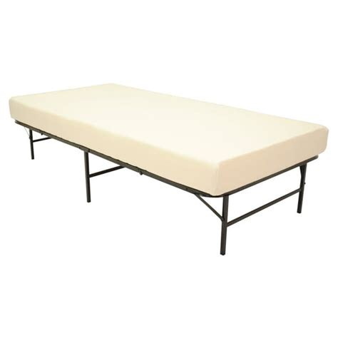 folding twin bed pragma quad fold bed frame twin size with 6 inch memory