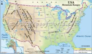 map of the mountains in the united states united states mountain ranges map ss ideas