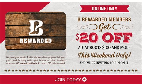 boot barn rewards fabulous boot barn coupons for you b rewarded vip offer