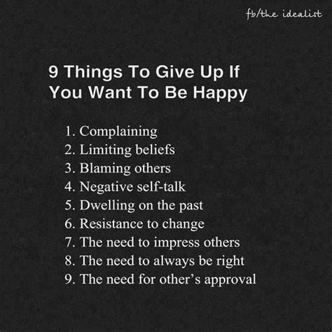 positive quotes 9 things to give up if you want to be happy quotes boxes you number one