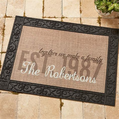 Unique Welcome Mats 14705 Together We Make A Family Personalized Doormat