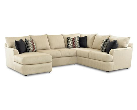 sofa with lounger sectional sofa with left side chaise lounger by klaussner