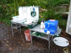 Portable Camping Kitchen With Sink by Hawaii House Build Offgrid Camping