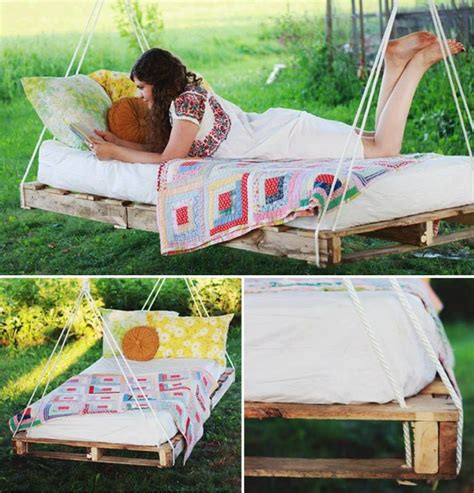 Hanging Pallet Bed by Hanging Pallet Bed Diy Cozy Home