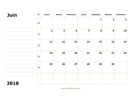Calendrier 2018 Juin Calendrier Juin 2018 224 Imprimer Calendriers Imprimables Pdf