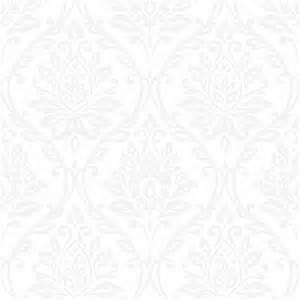 Fine decor athena damask wallpaper white fd40405