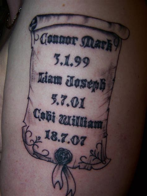 name and date of birth tattoo designs date of birth tattoos pictures to pin on