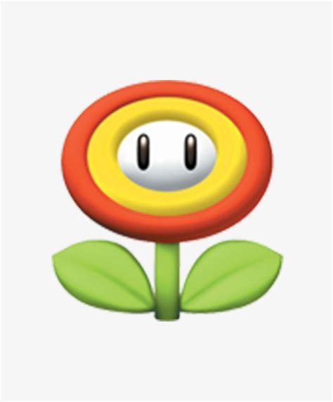 super mario 3d styling super mary flowers 3d png image