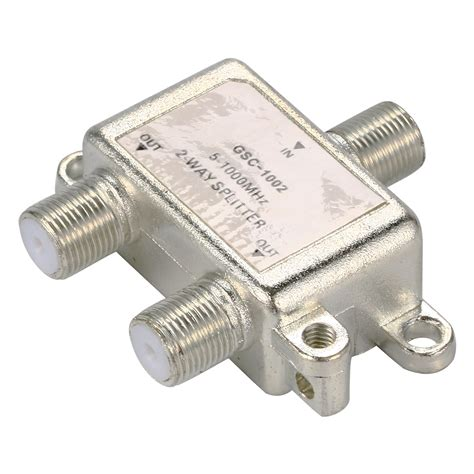 T Antena Tv 2 Way Spliter 2 way tv aerial splitter antenna cable 5 1000 mhz f connector splitter bi126 in connectors from