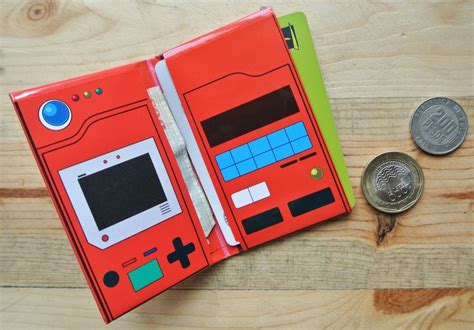 How To Make A Paper Pokedex - pokedex print mini wallet digital other