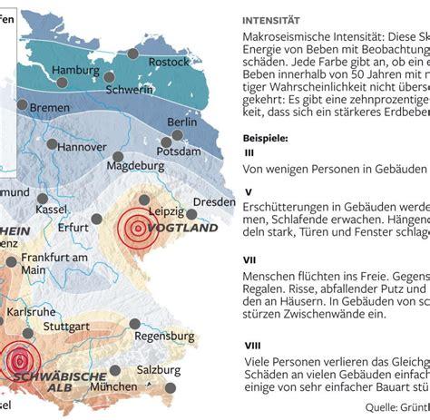 Seismische Gef 228 Hrdungskarte Wo Die Erde In Deutschland Am