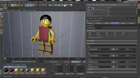 tutorial lego cinema 4d cinema 4d xpresso legoman 4d v1 demo video youtube
