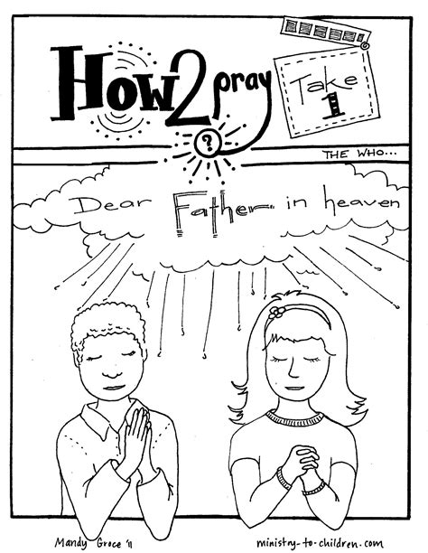 coloring page prayer coloring pages praying