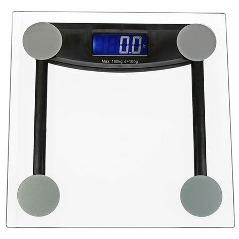 Glass Digital Bathroom Scales by Clear Glass Platform Digital Electronic Bathroom Scale