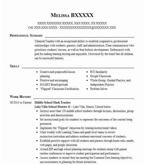 middle school teacher resume teacher resume middle school english