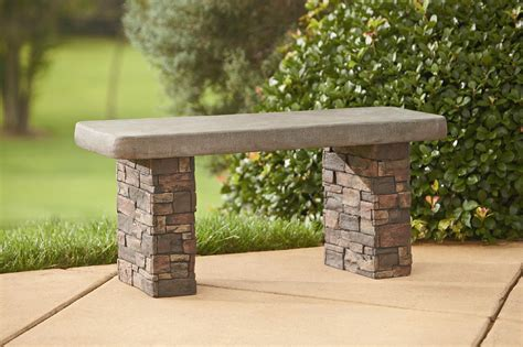 faux stone bench faux stone bench outdoor living outdoor decor misc