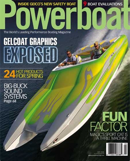 performance boats magazine powerboat magazine test team