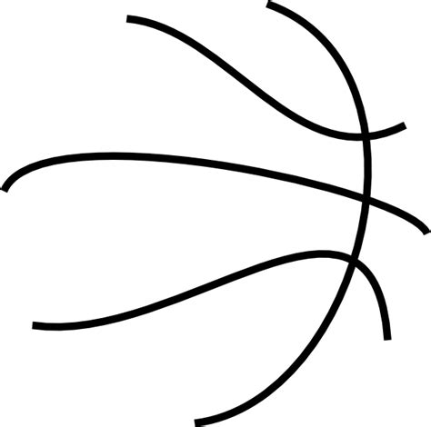 Bball Lines Clip Art At Clker Com Vector Clip Art Online Royalty Free Public Domain Basketball Lines Template