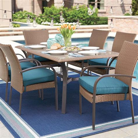 Home Depot Patio Tables Patio Furniture Home Depot Affordable Adelaide Eucalyptus Patio Dining Set With Patio