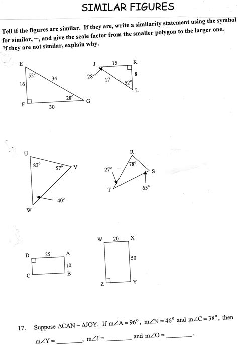 Similar Figures Worksheet 7th Grade by Similar Figures Worksheet Sachikoblog