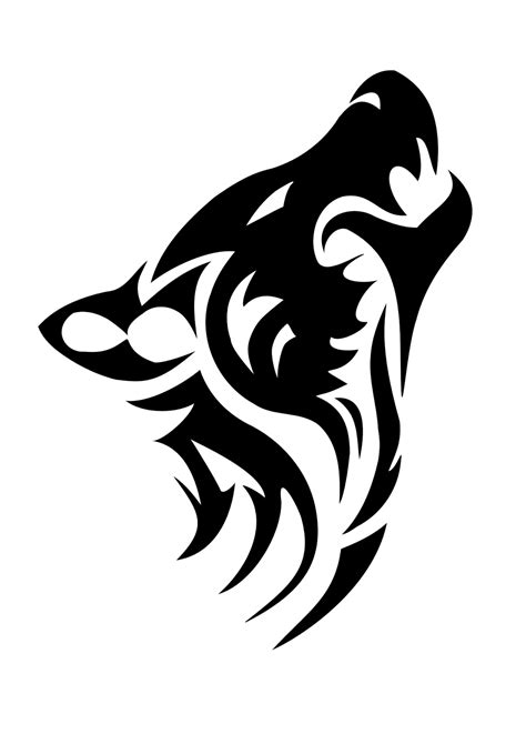 tribal tattoo stencil tattoos book 2510 free printable stencils wolf