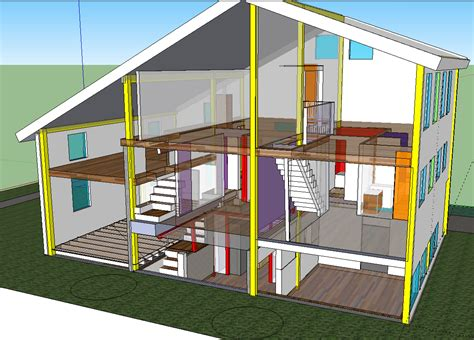 house cross section home remodling house structure cross section house plans