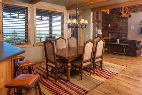 western dining room brasada ranch home design single story with media room