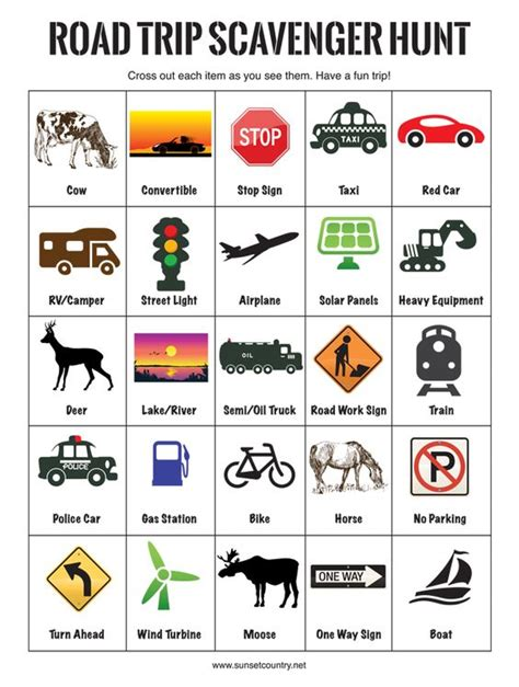 printable road trip scavenger hunt 12 tips for making your summer road trip with kids a